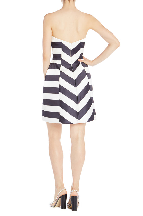 Striped Cocktail Dress