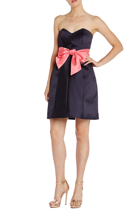 Navy Cocktail Dress Monique Lhuillier