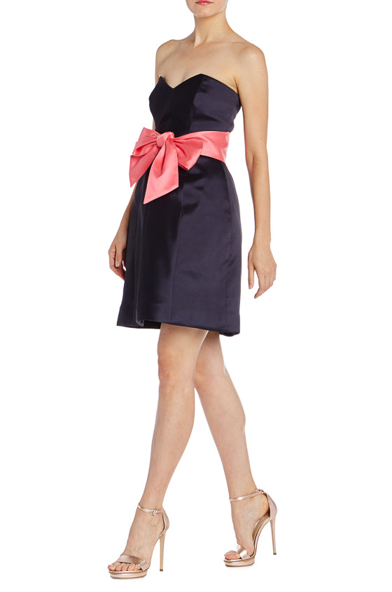 Strapless Navy Cocktail Dress Monique Lhuillier