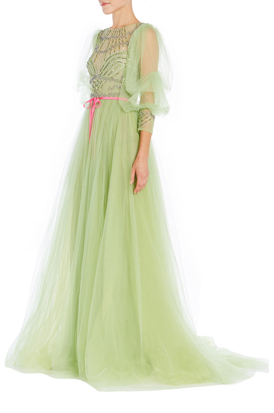 Spring 2019 Tulle Evening Gown Monique Lhuillier