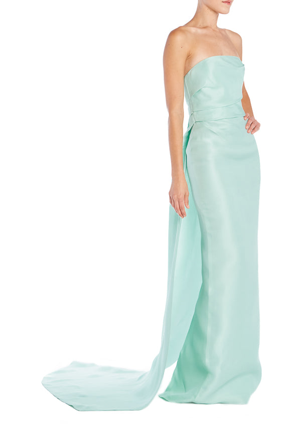 Strapless Column Gown