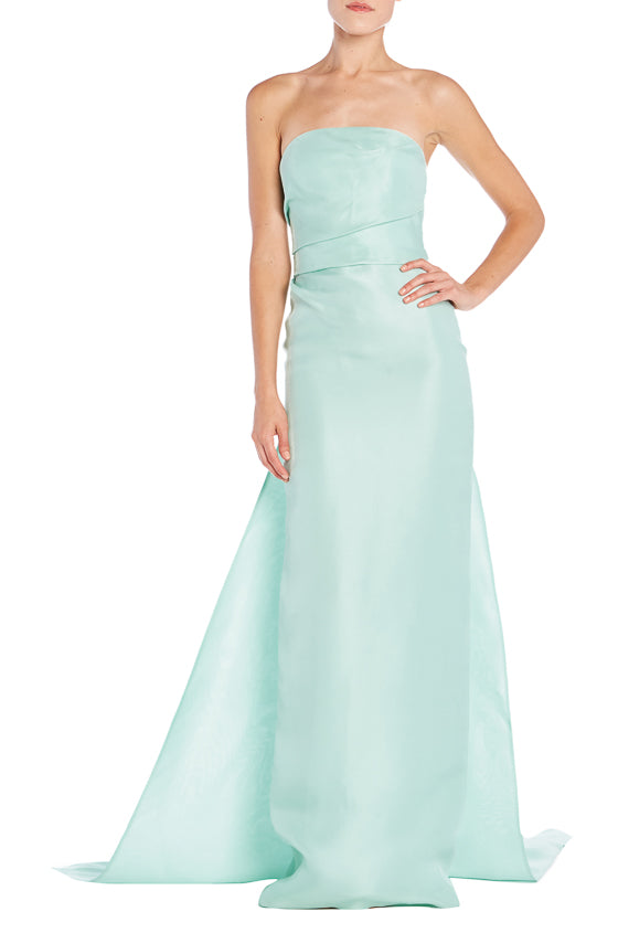 Strapless Column Gown with train Monique Lhuillier