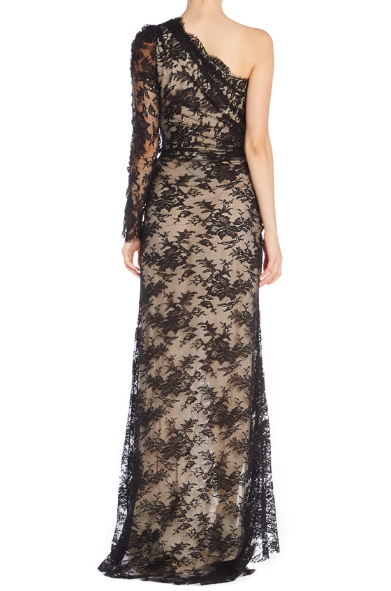 Black Lace Evening Gown Spring 2019 ML