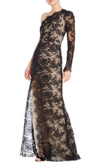 Monique Lhuillier Lace Gown RTW S19