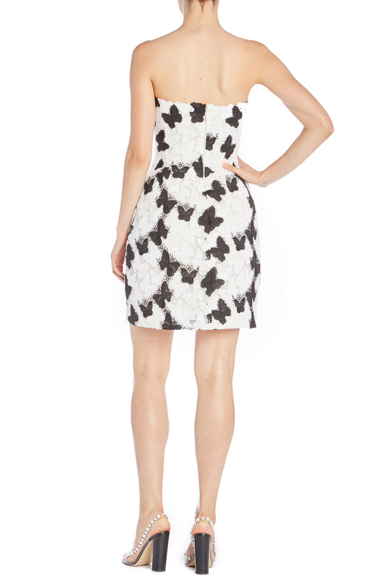 Black and white cocktail dress ML