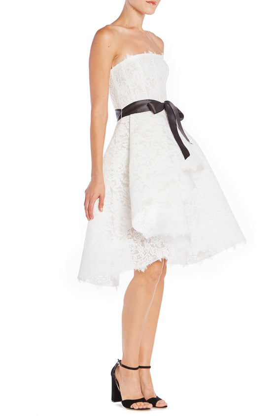 ML White Lace Cocktail Dress