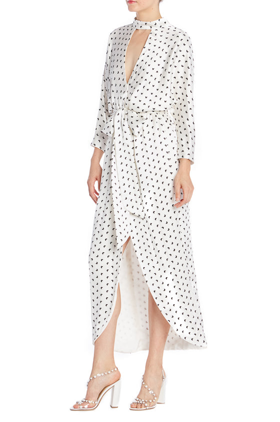 Butterfly Printed Wrap Dress- FINAL SALE