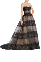 Spring 2019 RTW Ball Gown Black Lace