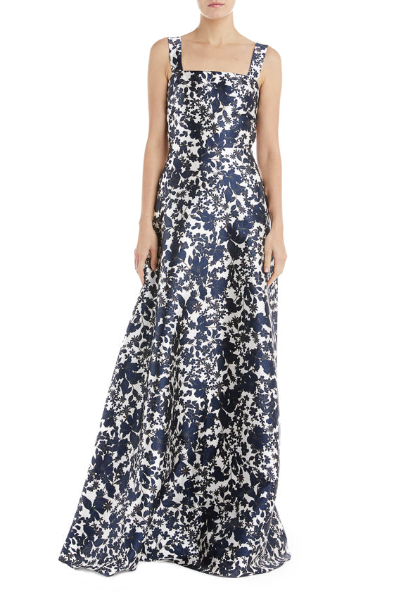 MLML Spring 2019 Navy Floral Gown