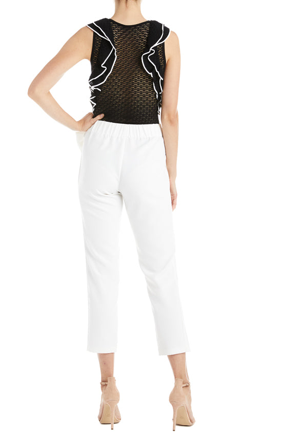 ML Monique Lhuillier Ruffle Bodysuit- FINAL SALE