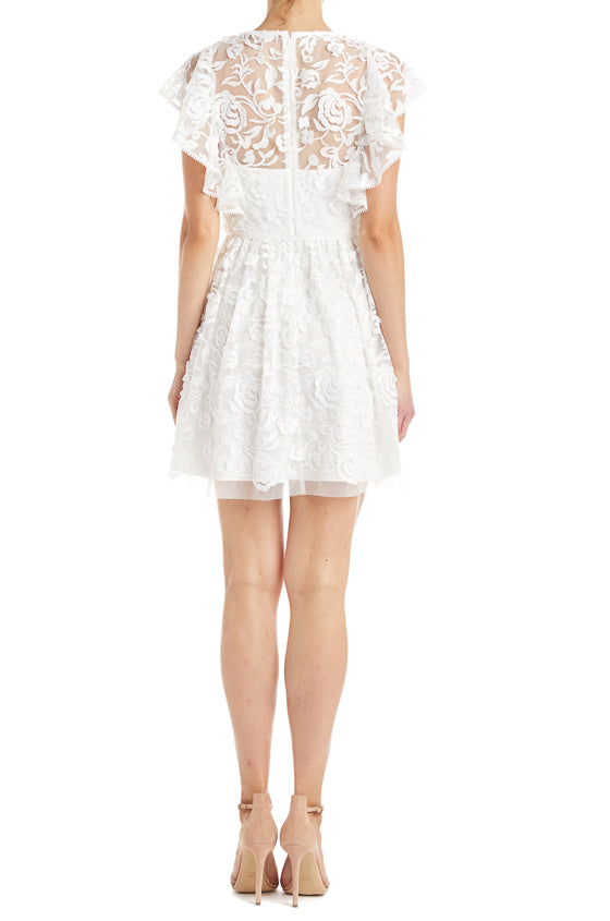 Short Lace Dress White Spring 2019