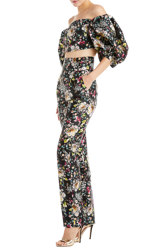 Floral high waisted pant