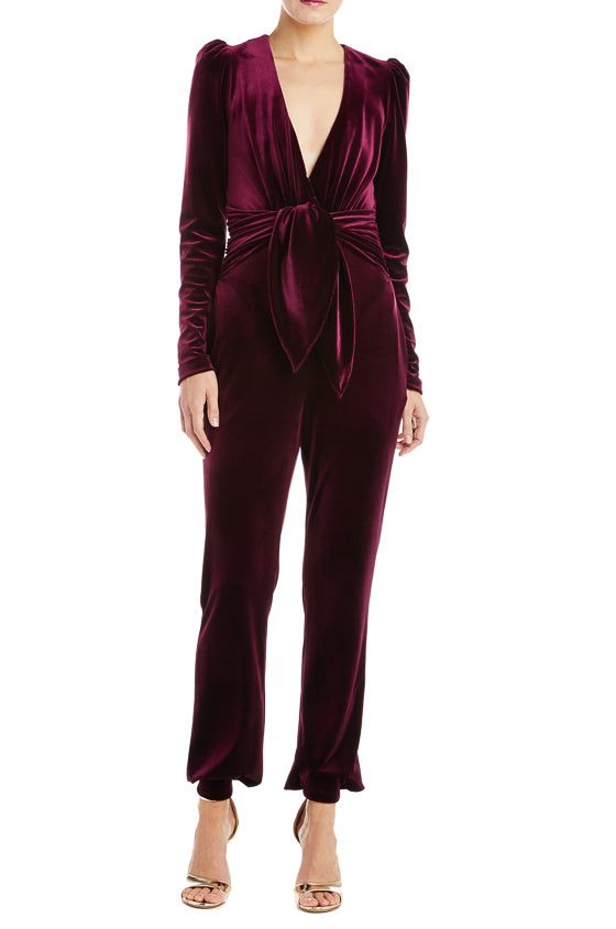 Monique Lhuillier Velvet Jumpsuit