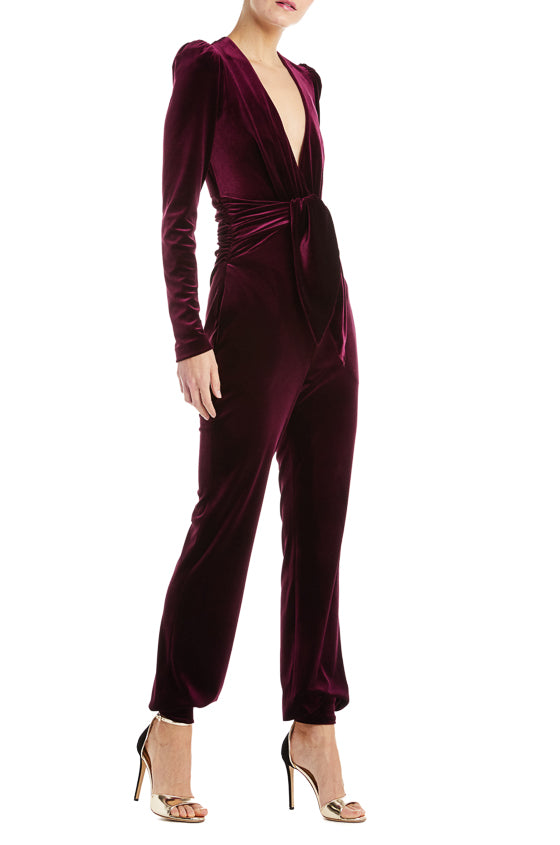 Fall 2019 Velvet Jumpsuit Red