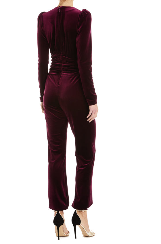 Long Sleeve Velvet Jumpsuit ML