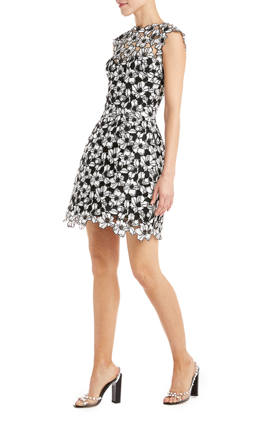 Floral Mini Dress Monique Lhuillier