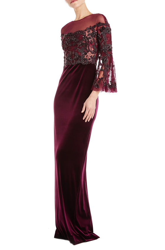 Monique Lhuillier Velvet Gown