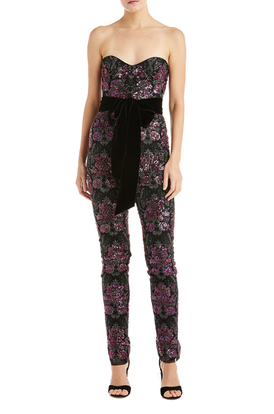 Floral Sequin Jumpsuit