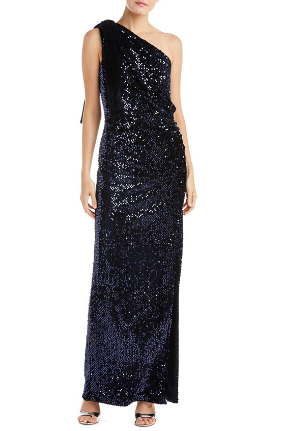 ML Monique Lhuillier Velvet Gown
