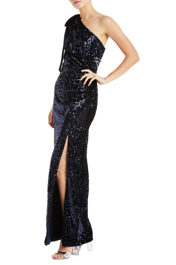 ML Monique Lhuillier Velvet Gown- FINAL SALE