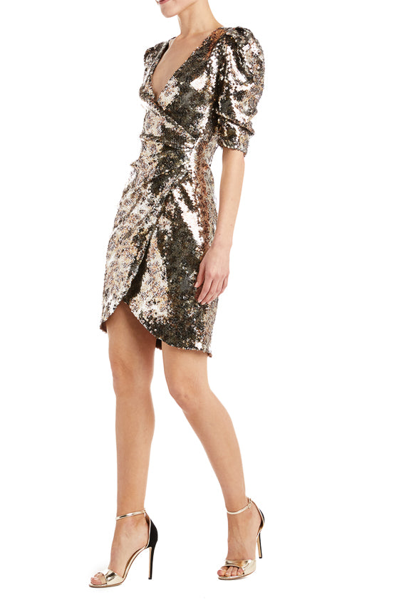 Monique Lhuillier sequin dress