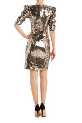 Leopard Print Cocktail Dress Sequins