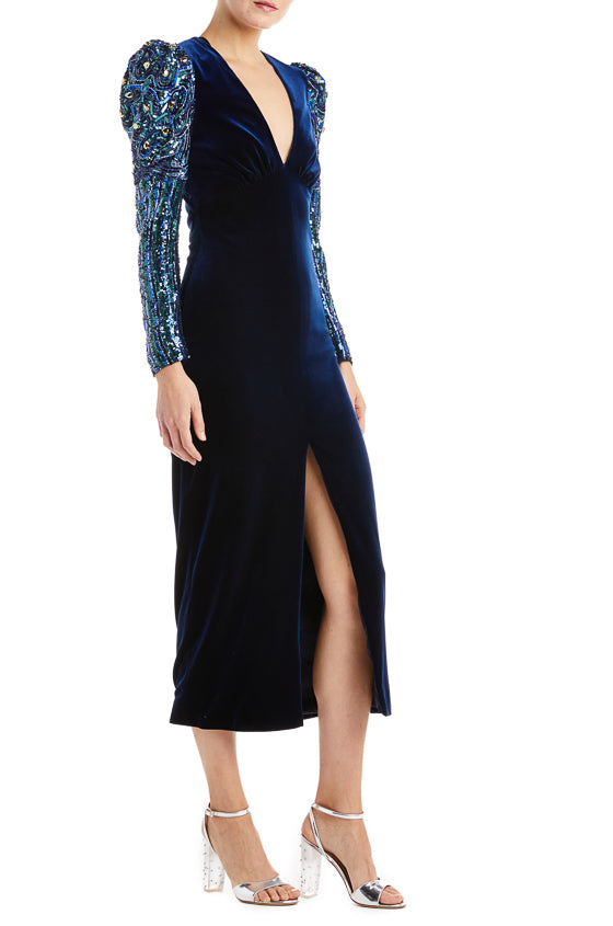 Fall 2019 Navy Midi Dress