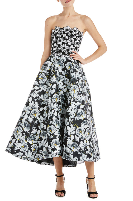 Monique Lhuillier Floral Gown