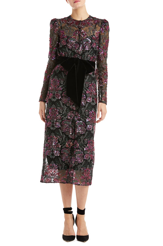 Long sleeve dress coat floral