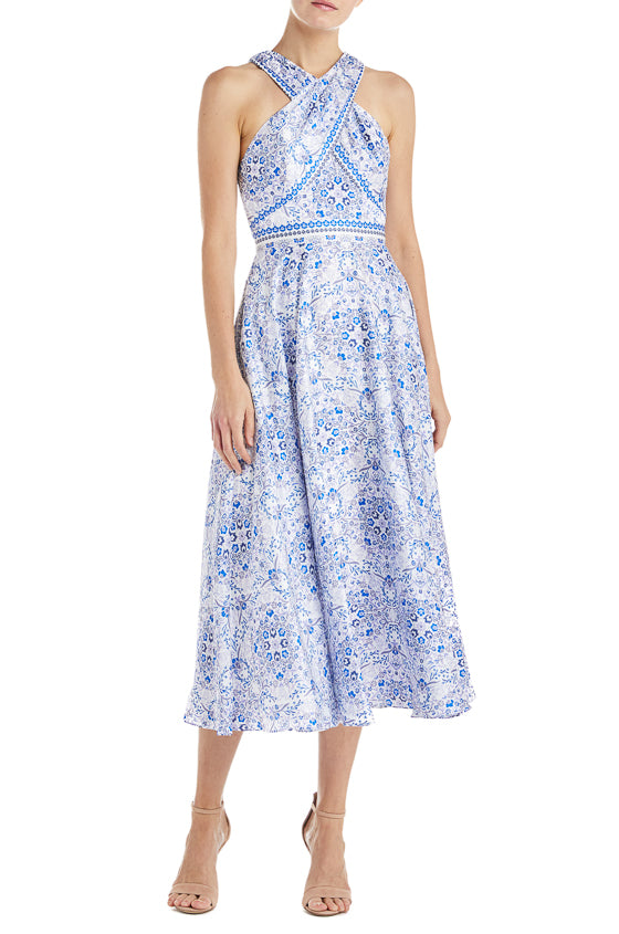 76c87b7fd9b ML Monique Lhuillier Floral Printed Dress