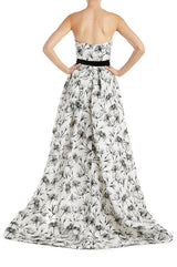 Floral Print Evening Gown Monique Lhuillier