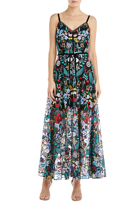 Spring 2019 Floral Dress Monique Lhuillier