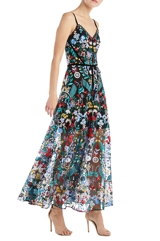 ML Monique Lhuillier Floral Dress