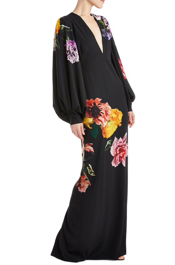 Fall 2019 RTW Gown Black floral