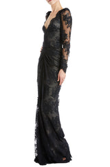 Black Evening Gown Monique Lhuillier
