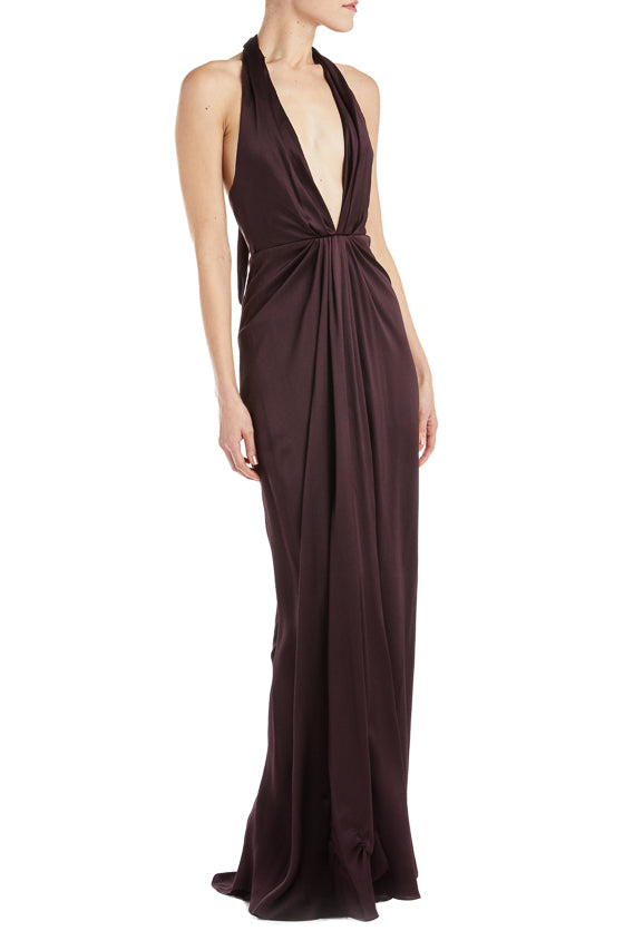 Halter Gown V neck
