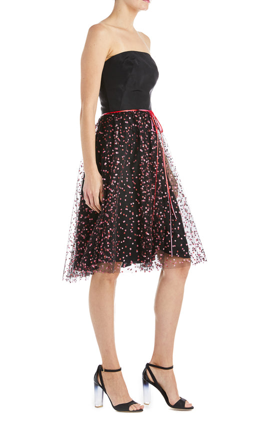 Monique Lhuillier Strapless Cocktail Dress S19