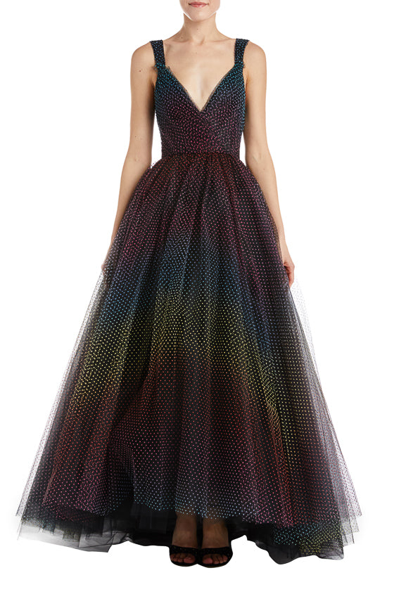 Tulle a-line gown
