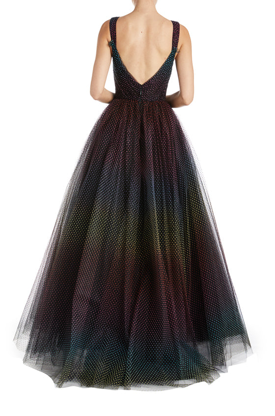 high low tulle ball gown