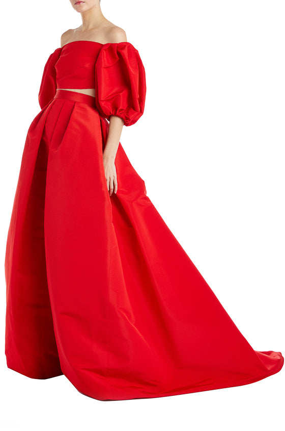 Fall 2019 Red Top Monique Lhuillier