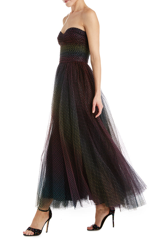 Monique Lhuillier Tulle Gown Black