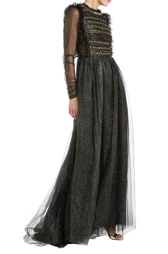 Fall 2019 Evening Gown with long sleeves