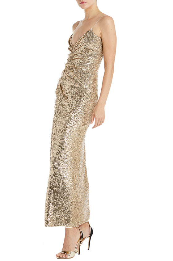Monique Lhuillier Sequin Gown F19 RTW