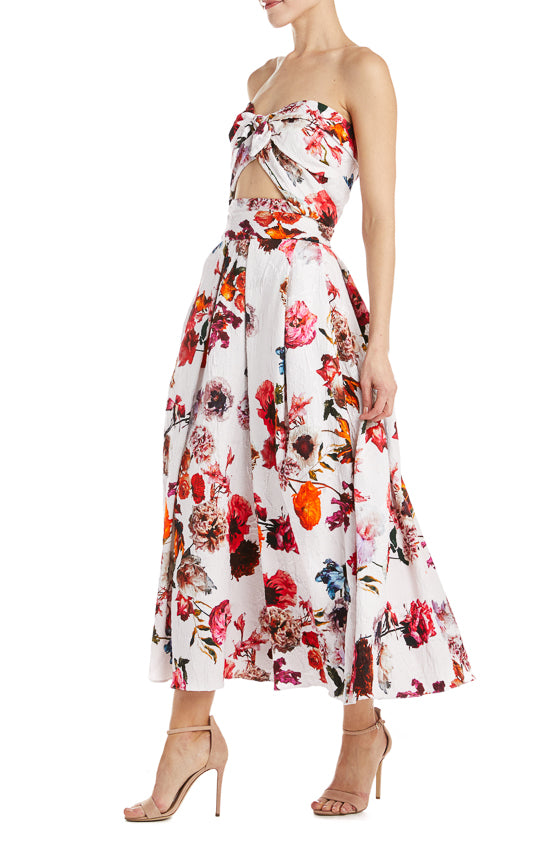 Floral Tea Length Skirt Monique Lhuillier