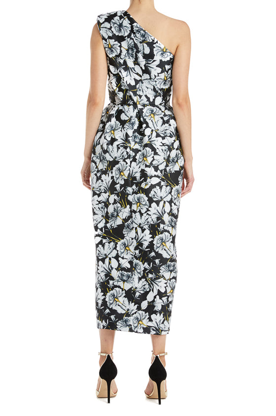Black and white printed dress Monique Lhuillier