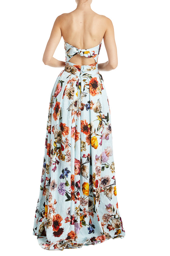 Monique Lhuillier Floral Evening Skirt