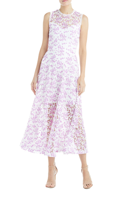 Lilac Lace Dress ML Monique Lhuillier