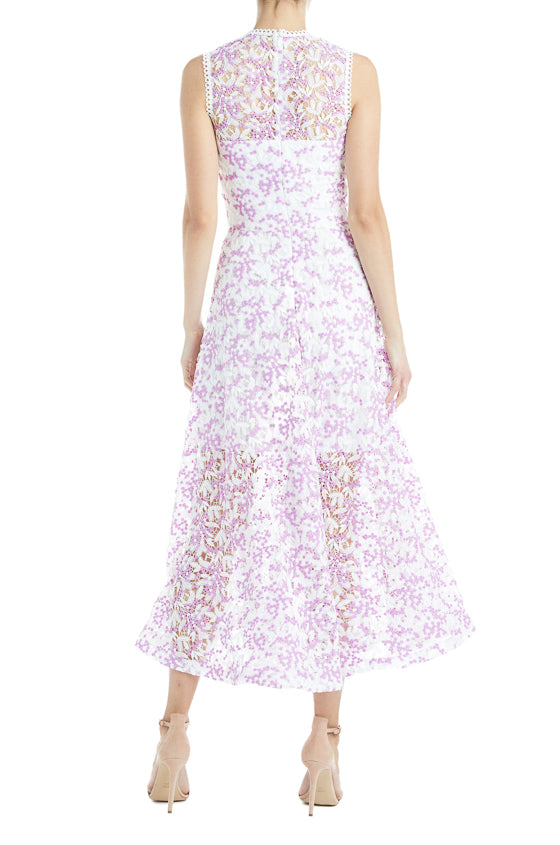 purple and white lace dress Spring 2019