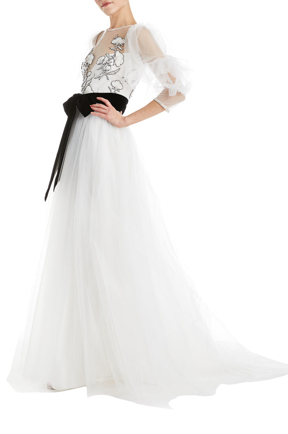 Monique Lhuillier Tulle Gown