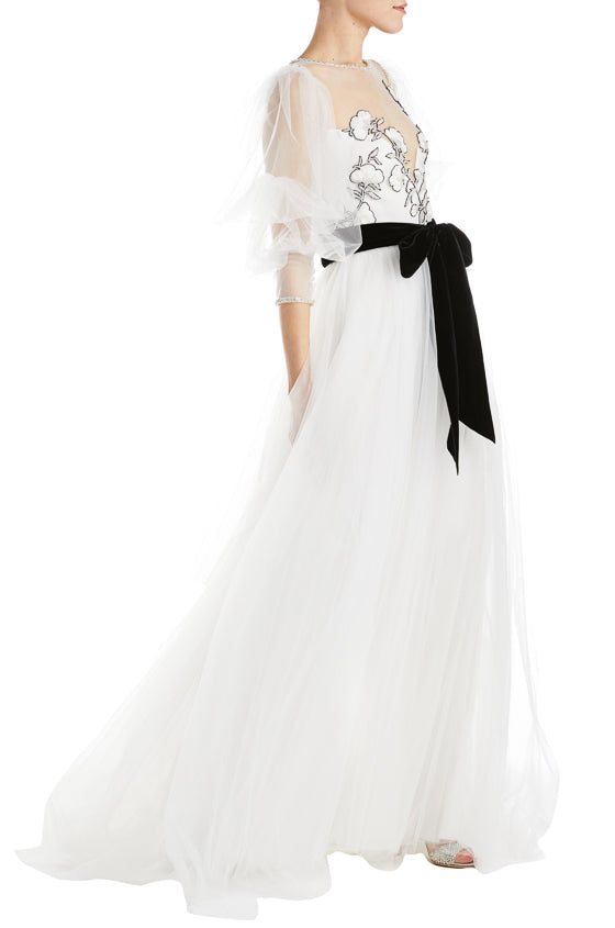 Fall 2019 Evening Gown White